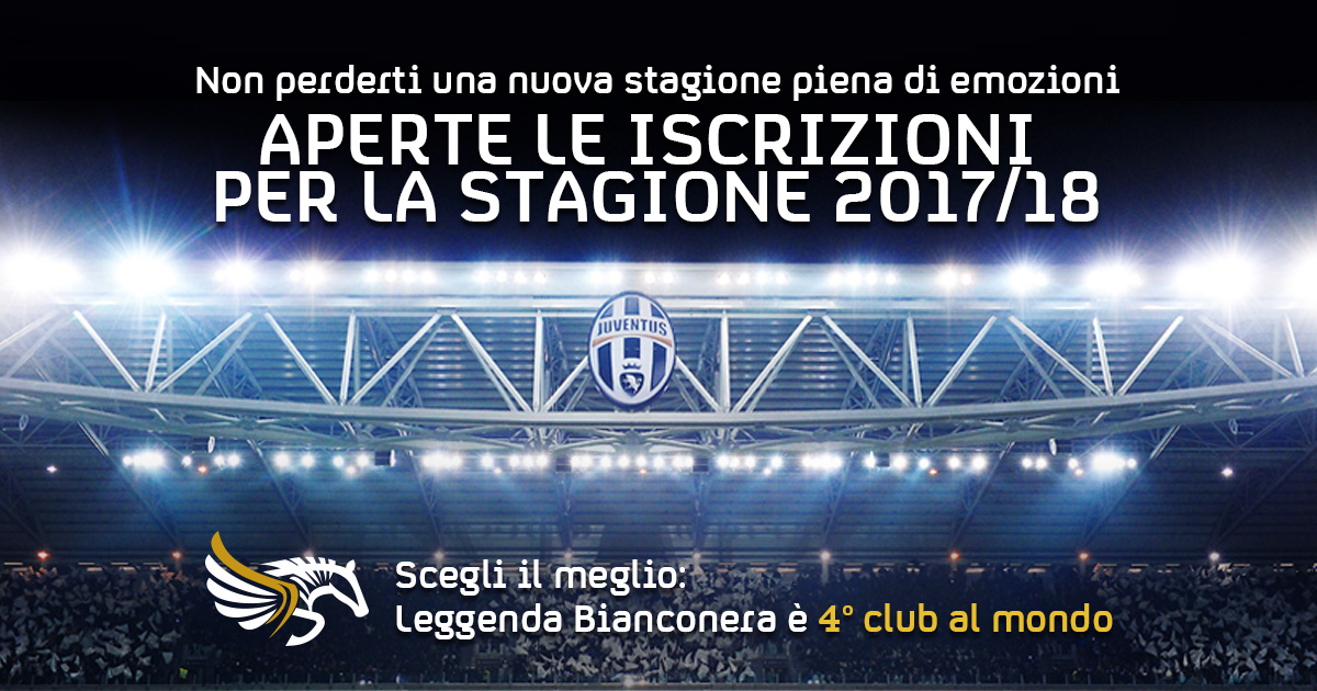 Leggenda Bianconera, Tesseramento stagione 17/18